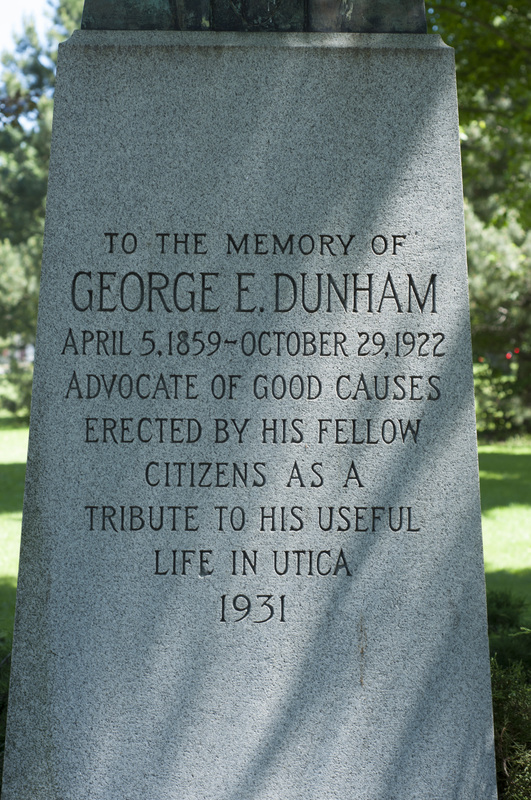 Photograph of George E. Dunham Memorial Statue - AO-00131-002.jpg