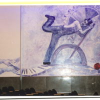 Photograph of Strough Auditorium Theatre Murals - CHARLIE CHAPLIN.JPG