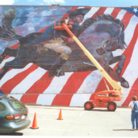 Photograph of Patriot Wall - Taylor,Jg Patriot's Wall-60 foot wall mural,Rome, ny- 5,500 square feet ....jpg