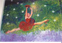Photograph of Strough Auditorium Theatre Murals - ballerina with fan -mural copy.jpg